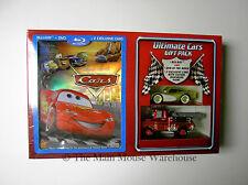 Disney Pixar Cars Blu Blu-ray DVD Ultimate Gift Pack w/ Die-Cast Cars Box Set