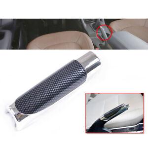 1x Carbon Fiber Style Auto Car Hand Handle Brake Protect Cover Decor Accessories