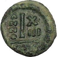 HERACLIUS 622AD Catania Sicily Decanummium Ancient Byzantine Coin i54026