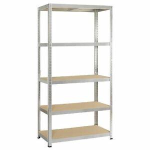 Garage Shelving Unit 5 Tier Boltless Metal Racking Shelf Storage UK 172cm 750KG