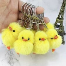 Cute plush duck doll key chain small gift