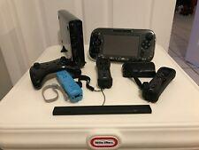 Nintendo Wii U Deluxe 32GB Black Handheld System Orig Box + 4 extra controllers
