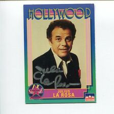 Julius La Rosa The Godfather Famous Singer Signed Autograph Hollywood Photo Card