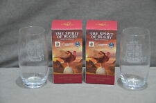 2x The Famous Grouse Scotch Whisky Premiership Rugby Glass Tumbler In Box 2021
