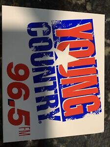 Young Country 96.5 Sticker