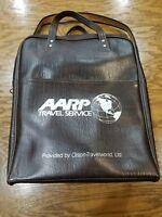 AARP Dark Brown Travel Service bag 1970's pleather