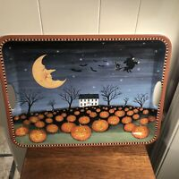 SAKURA Evolution David Carter Brown HALLOWEEN 14.5 x 19.5 Plastic Serving Tray