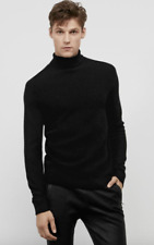 NWT KENNETH COLE BLACK LABEL Waffle Knit Turtleneck Sweater Wool Blend