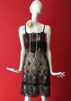 Warehouse Black Lace Flapper Inspired 1920s Gatsby Charleston Dress Size 10