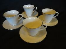 Lenox China USA - Snow Flower - Set of 4 Cups and Saucers