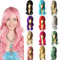 New Fashion 70cm Full Wavy Wigs Cosplay Hot Costume Anime Party Halloween Hair
