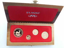 1992 South Africa Prestige Krugerrand Gold Proof 4 Coin Set Wooden Box Rare