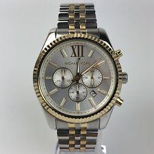 Michael Kors Lexington Men's Quartz Watch Chronograph Two Tone Case 46mm MK8344