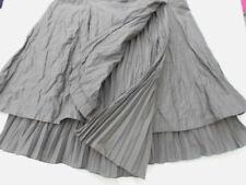 Robe portefeuille superpositions tissus plissés et froissés gris violacé T38 TBE