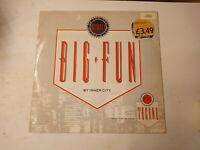 "Inner City – Big Fun - 12"" Vinyl Single 1988 UK Copy"