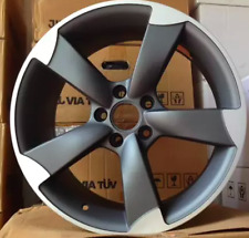 18 INCH WHEELS RIMS FOR AUDI A3 S3 A4 S4 A5 S5 A6 S6 A7 A8 GUNMETAL MACHINED