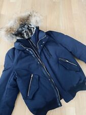 Men Mackage Winter Puffer Jacket Navy Blue XL P
