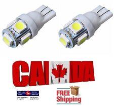 2pcs 5SMD White 6000k LED T10 194 158 168 912 Map Dome License Plate Light Bulb