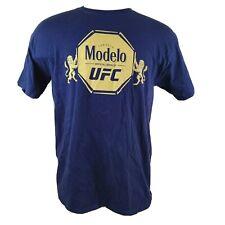 Modelo Cerveza UFC Ultimate Fighting Navy Blue T Shirt Sz Large