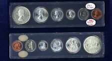 CANADA 1961, 1965. & 1967, PROOF/PROOFLIKE ANNUAL SETS OF COINS, LOT OF (3) SETS