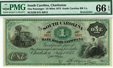 South Carolina Rail Road Company.  PMG 66 EPQ GEM Uncirculated.  Train.
