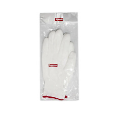 SUPREME Rubberized Gloves White OS