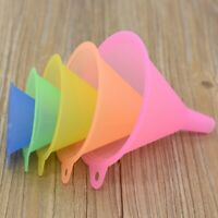 5x Colorful Plastic Funnel Small Medium Large Variety Liquid Oil Kitchen