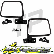 MIRRORS PAIR MANUAL BLACK SUIT GQ PATROL NISSAN MAVERICK FORD 87-97 DOOR SIDE