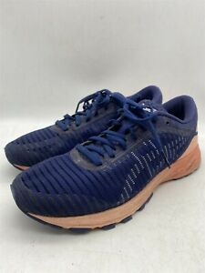 ASICS DynaFlyte 2 Womens Navy/Coral Walking Running Casual Trainers UK 7 US 9