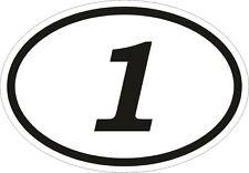 1 Un número Naciones Oval pegatina de parachoques calcomanía auto Motocross Motocicleta aufkleber