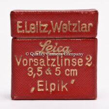 Leica ELPIK (2*) - VINTAGE CLOSE-UP LENS f/50MM ELMAR - LEITZ 'BEOOY' EXCELLENT