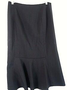 Ralph Lauren Business Work Black Wool Pencil Long Skirt New $169 Women's Size 2