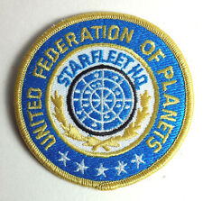 "Star Trek Classic UFP  3"" Round Blue Uniform Patch-FREE S&H (STPAL-42)"