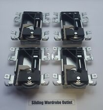 4X SpacePro Stanley 17-4264Y-000 TAC2-8  Sliding Wardrobe Wheels/Runner/Guides