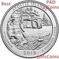2018 P&D Apostle Islands National Lakeshore Quarter MI U.S.Low Cost $1.78 PD ATB