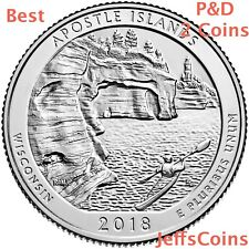 2018 P&D Apostle Islands National Lakeshore Quarter MI U.S.Low Cost $1.78 PD ATB