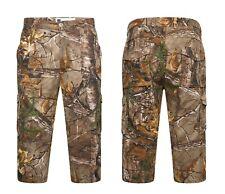 Mens Combat Cargo Jungle Print Army Fishing 3/4 Long Cotton Summer Camo Shorts