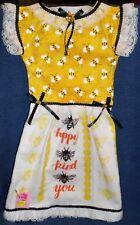 **NEW** Handmade Bee Kind Bee Happy Bee You Oven Door Dress Kitchen Towel #680