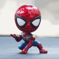 Iron Spider Man Bobble Head Figure Car Accessory Avengers Endgame Spiderman Toy