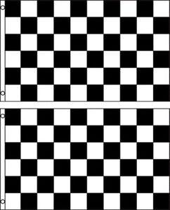 (2 pack lot) 3x5 Black White Checkered Racing Flag 3'x5' Banner Grommets Premium