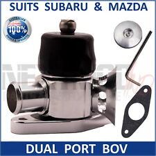 Dual Port Blow Off Valve BOV BLACK Fits Subaru Mazda WRX GT XT CX7 3 6 3in1