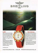 PUBLICITE ADVERTISING 124  1998  BREITLING  collection montre LADY J
