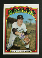Gary Neibauer Braves signed 1972 Topps baseball card #149 Auto Autograph