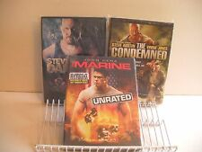 WWE DVD MOVIES BUNDLE ( 3 MARINE, CONDEMNED, DAMAGE ) NM watched once FREE SHIP/