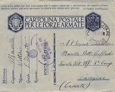 """C4704) WW2 AVIAZIONE GERBINI ANNULLO """"RR. POSTE AEROPORTO 505 P.M.3500""""."""