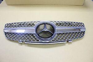 Mercedes Benz SL R230 SL500 SL600 SL-Style 03-06 Front Grille Chrome & Silver
