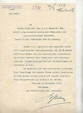 1918 ERHEBUNG IN DEN FREIHERRENSTAND  -die letzte Ernennung  von KAISER KARL I.