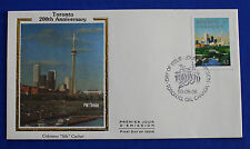 "Canada (1484) 1993 Toronto Bicentennial Colorano ""Silk"" FDC"