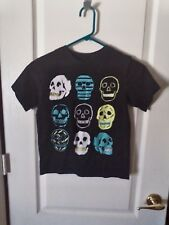 EST 1989 Black S/S Tee Multi Color Skulls Print - Medium 7/8