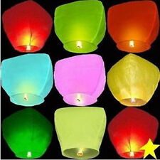 New 5pc Wishing Lantern Chinese Paper Sky Floating Wedding Flying Party Lamp